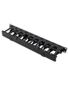 1U Horizontal High Density Cable Manager - Front