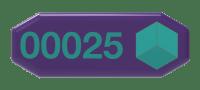 Hexagon number badge