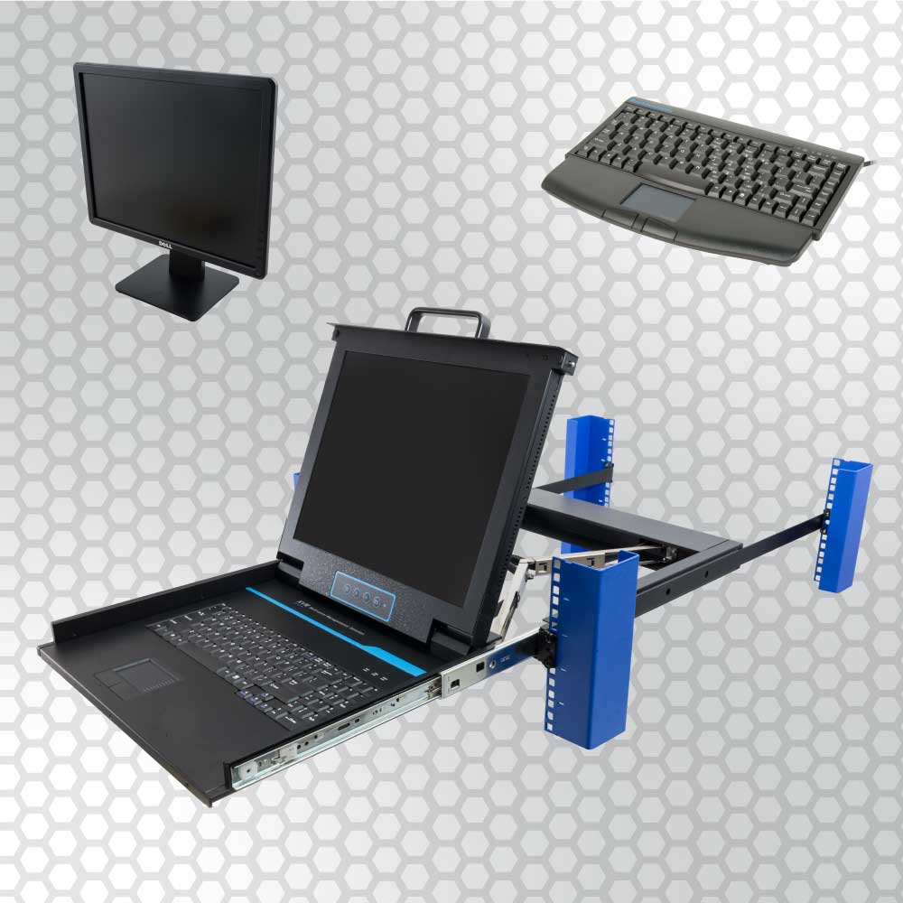 The most convenient place to keep monitors and keyboards for your IT equipment is right inside of your server rack