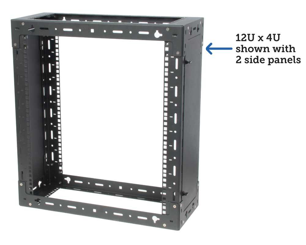12U x 4U with 2 side panels
